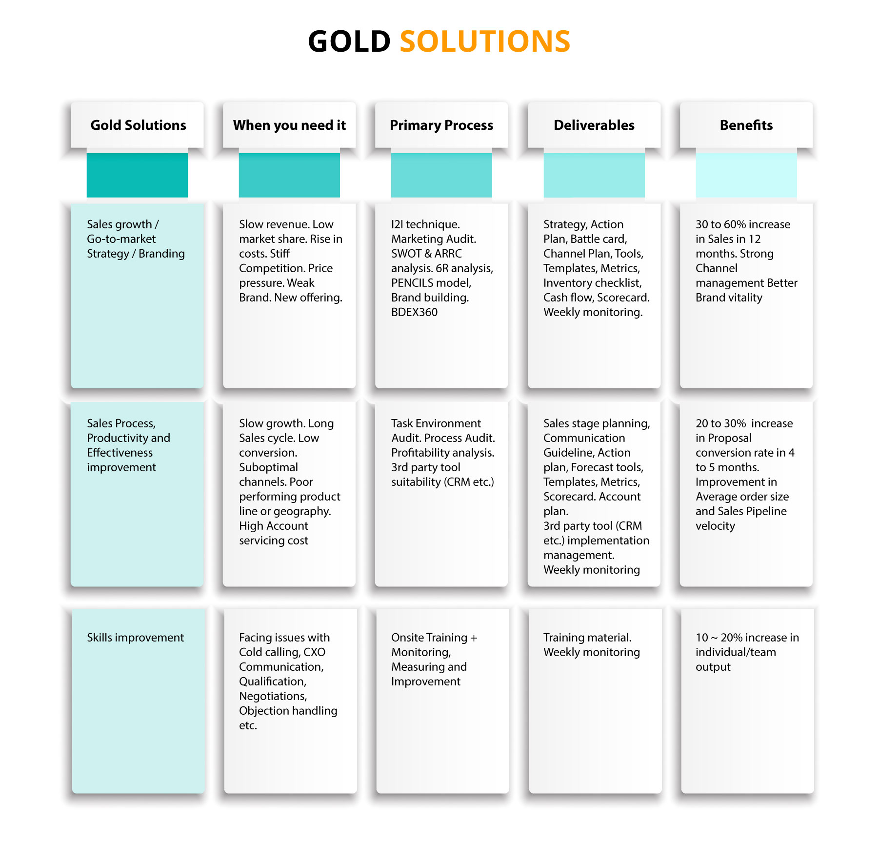 Bizwin Sales Management Consultancy | Gold Solutions